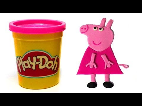 Play Doh How to make Peppa Pig with playdough by unboxingsurpriseegg