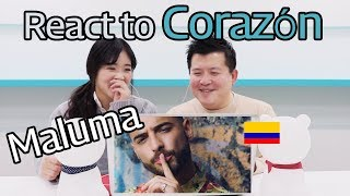 Download Lagu Maluma - Corazón ft. Nego do Borel Reaction [Koreans React] / Hoontamin Gratis STAFABAND