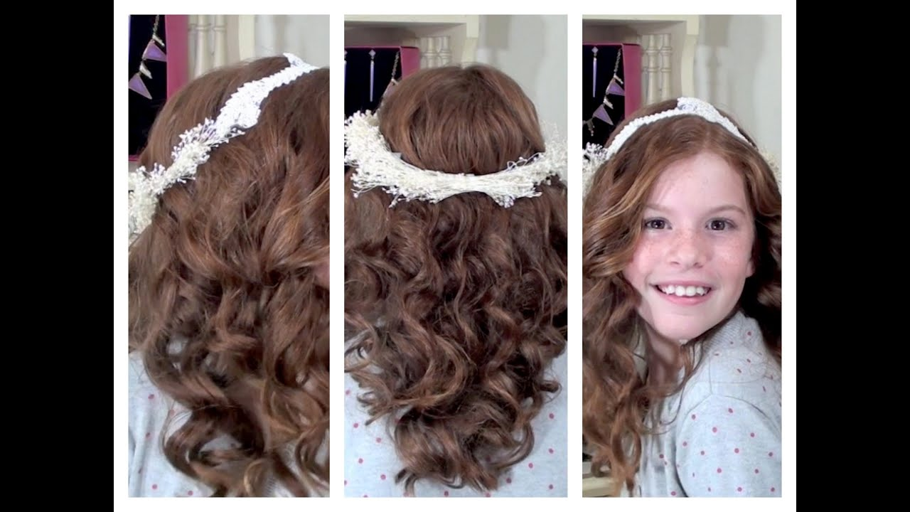 Flower Girl Hair And Diy Flower Crown Youtube