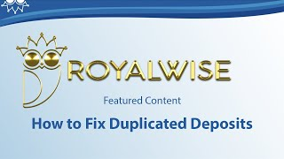 How to fix duplicated deposits from a bank feed in QuickBooks Online