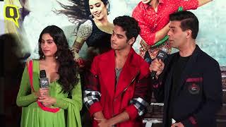 Janhvi Kapoor, Ishaan Khatter & Karan Johar at 'Dhadak' Trailer Launch