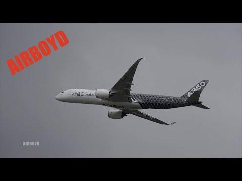 3 Airbus Display At Farnborough Airshow 2016