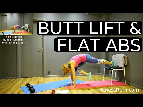 Ru47 Perky Butt And Flat Abs Workout 26 Minute Total Body Exercises At Home Level 3 video