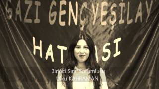 Gazi Genç Yeşilay Topluluğu Tanıtım Videosu