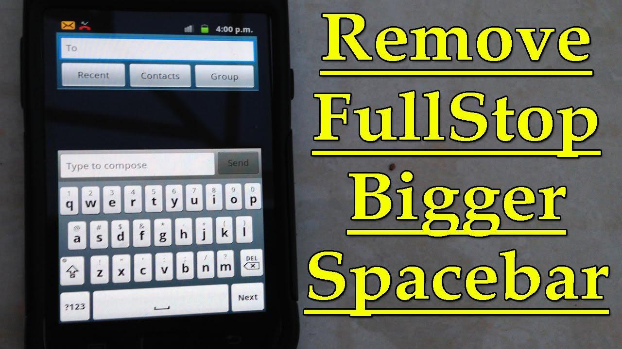 Full Stop Samsung Keyboard
