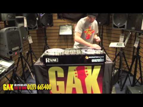 JFB using Rane SL3 Serato Scratch Live and a Rane Sixty One Professional DJ Mixer at GAK