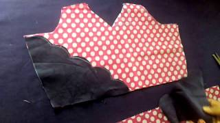 How to make a frock at Home, Gown cutting and stitching, BABY Circle frock