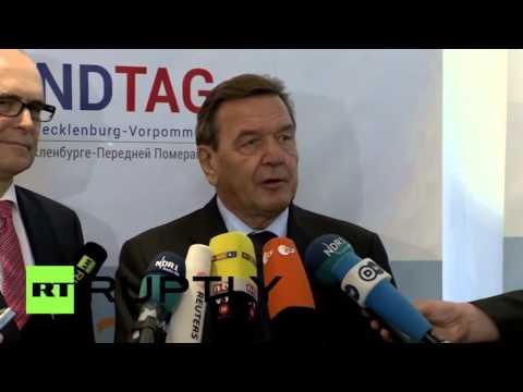 Gerhard Schröder ll Schluss mit den Sanktionen gegen Russland ll Russlandtag, Mecklenburg Vorpommern