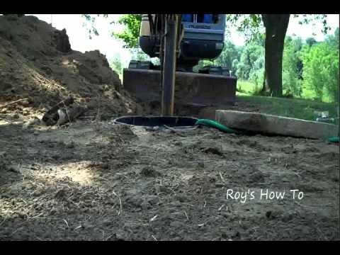 Septic Tank Outlet Pipe Repair Youtube