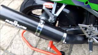 ZX6R Remus Grand Prix Carbon Exhaust .wmv