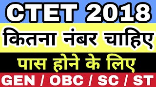 CTET 2018 Passing Marks for GENERAL / OBC / SC / ST   Study Channel