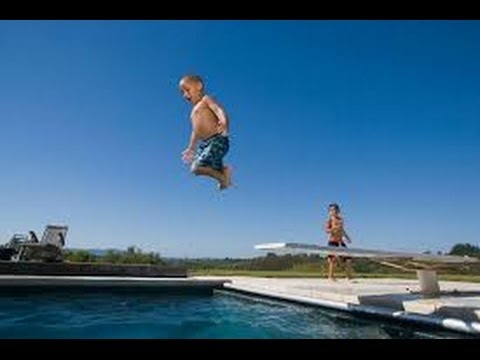 Diving board fails compilation youtube for Swimming pool diving board tricks