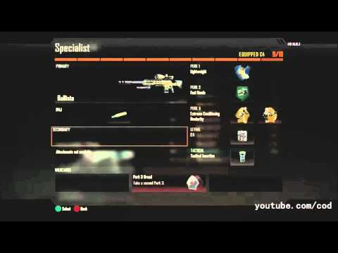 Black Ops 2 Create a Class - All Snipers, Scorestreaks, Perks, Attachments, Guns, Specialist..