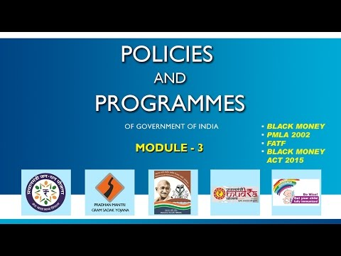 Policies and Programmes of Government of India, Module - 3