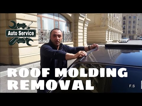 Mersedes roof molding removal