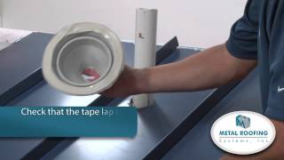 How to flash Metal Roofing Systems Pipe Boot Installation