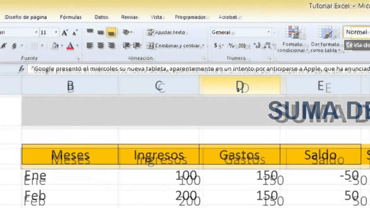 Excel - Nivel Básico - Tutorial #5