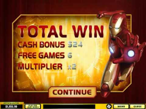 Iron Man Slots video review by Online Keno