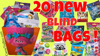 Blind Bags Opening Toy Story Finding Dory Care Bears Shopkins Light Ups Hatchimals Trolls Minions PJ