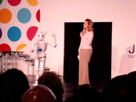 Toyota Partner Robot plays trumpet