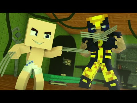 Minecraft - WHO'S YOUR DADDY? - Sou o filho do Wolverine ( X-Men Apocalipse )