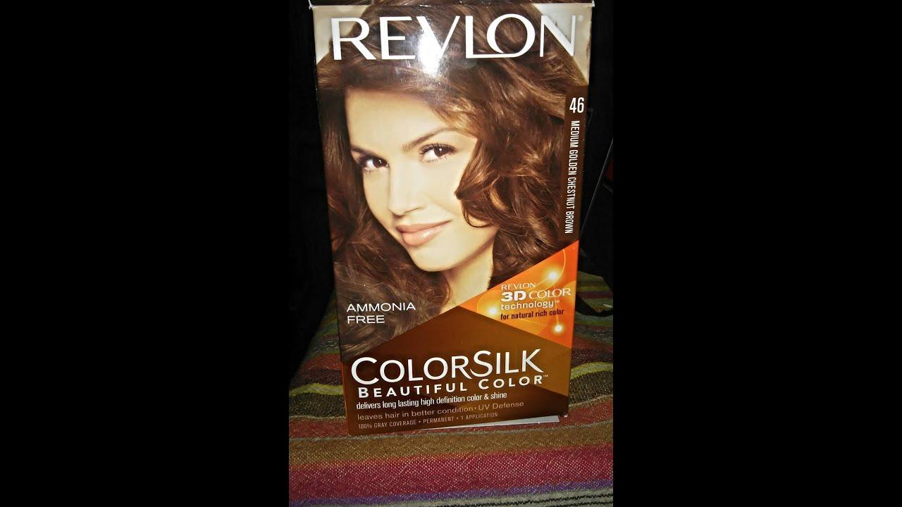 How I Dye My Hair Revlon Colorsilk Medium Chestnut Brown