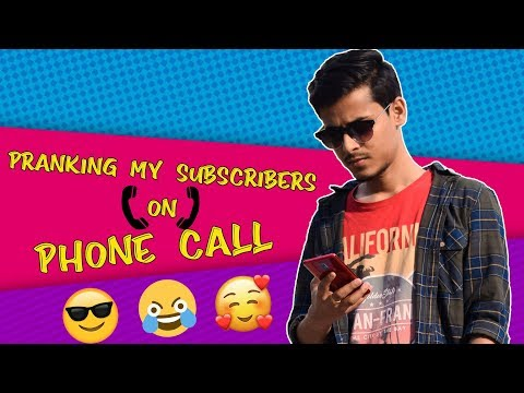 Pranking My Subscribers on Phone Call|500K Subscribers Special|The Bong Guy