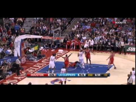 Chandler Parsons dunks on Blake Griffin, stares him down!