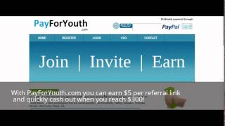 Earn Money Online Through Link Referrals! Earn $5 Per Referral Link Click And Cash Out at $300!