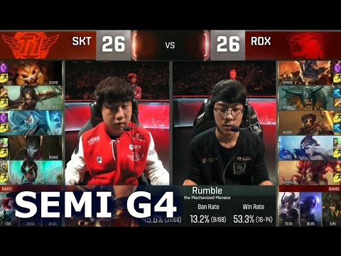 SKT vs ROX - Game 4 Semi Finals Worlds 2016 | LoL S6 World Championship SK Telecom T1 vs Rox Tigers