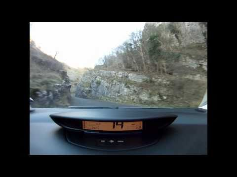 Citroen C4 VTS 180 on Cheddar Gorge
