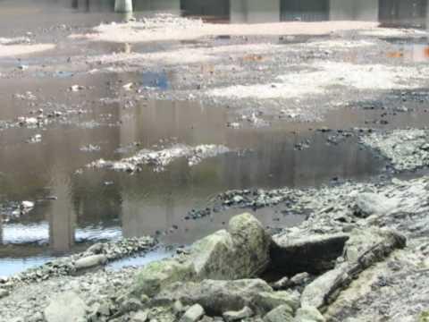 Orlická přehrada-bez vody!