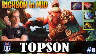 Topson - Troll Warlord | RICHSON in MID | Dota 2 Pro MMR Gameplay #8
