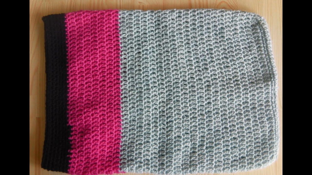 Crochet laptop sleeve / notebook bag - tutorial - YouTube