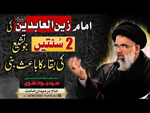 Imam Sajjad (as) ki 2 Sunnatein, Tashayyu ki baqa ka zamin || Ustad e Mohtaram Syed Jawad Naqvi