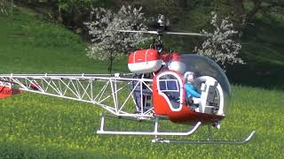 Bell 47G Supersized Scale RC Helicopter ALK 2018