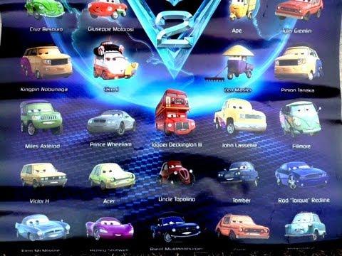 Disney Pixar Cars  Car Names