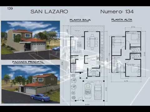 Planos de Casas Modelo San Lazaro #134 Arquimex Planos de Casas