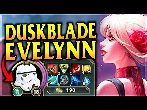 STORMTROOPER DUSKBLADE EVELYNN ONE-SHOTS!? Reworked Tango Evelynn - League of Legends Commentary