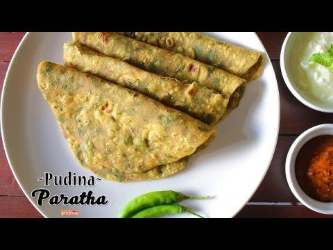Pudina Paratha | Easy pudina paratha recipe | Home Cooking