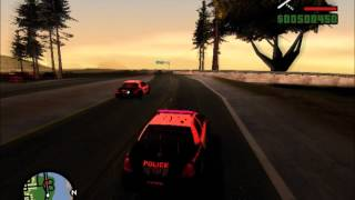 FRPD and Massachusetts State Police Chase SAPD:FR GTA SA (HD)