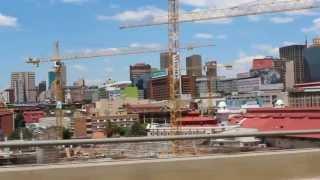 Driving through Johannesburg