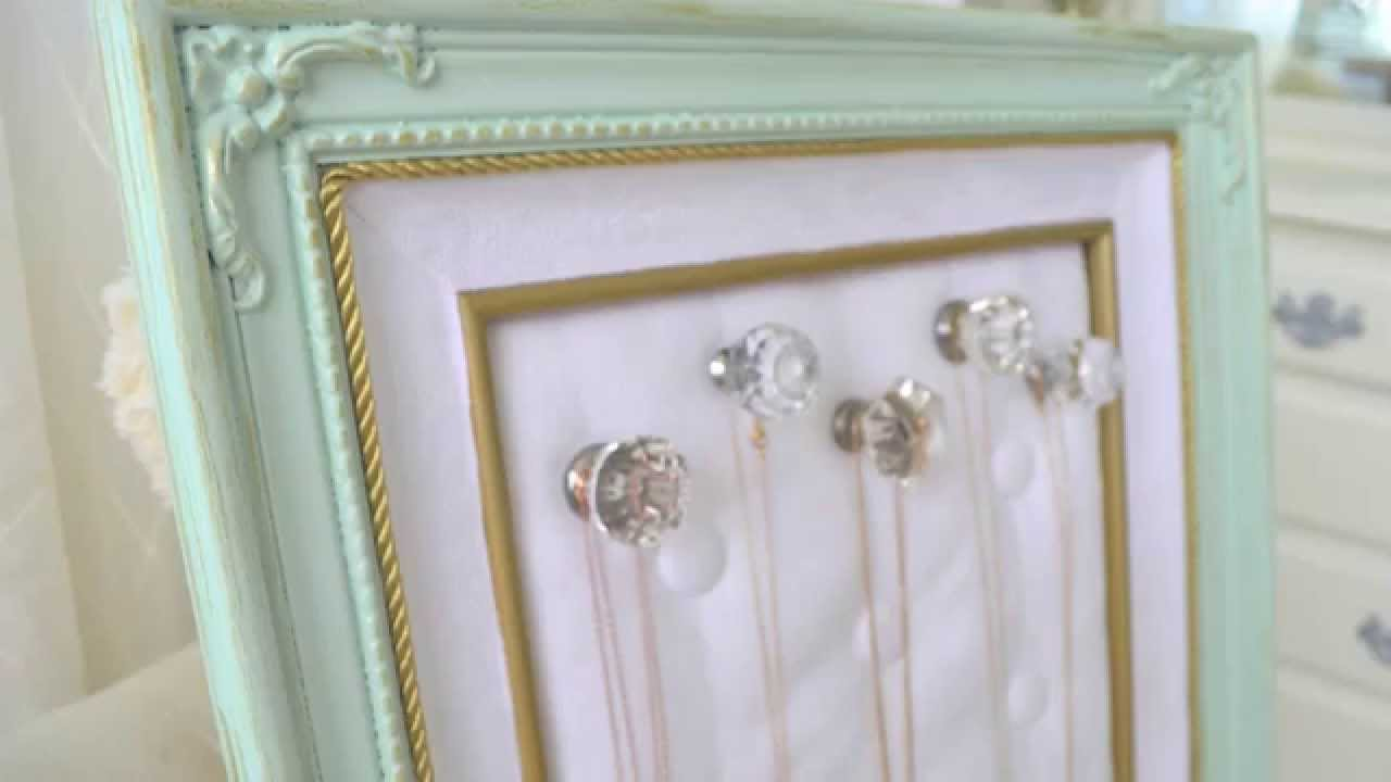 Diy Thrift Store Frame To Jewelry Organizer Youtube