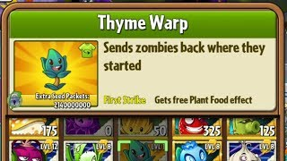 Boosted Thyme Warp - Hack - Plants vs. Zombies 2
