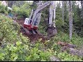 Blazing New Trails with Mini Excavator - Off Grid Cabin - Part 1