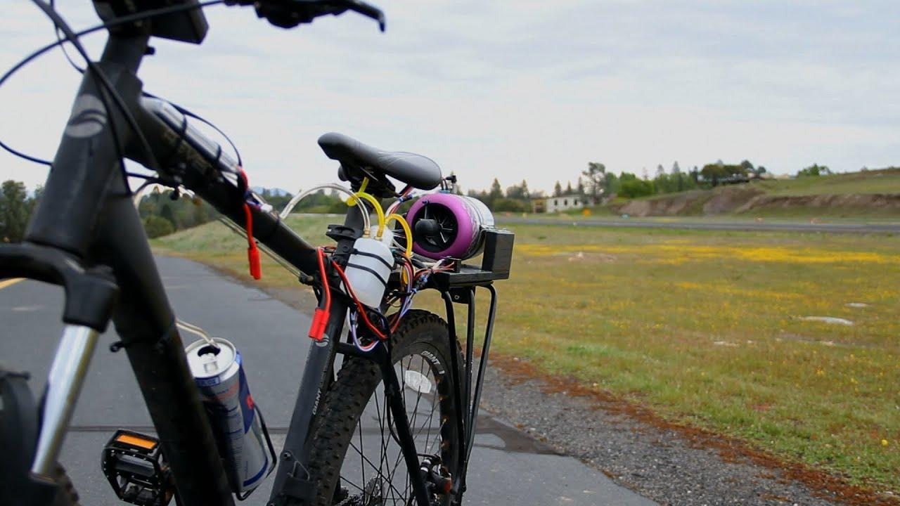 jet powered bicycle  insane youtube