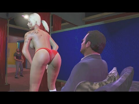 GTA 5 - Michael Gets a Boner - (GTA V - Funny Moments #3) - *NO SPOILERS*