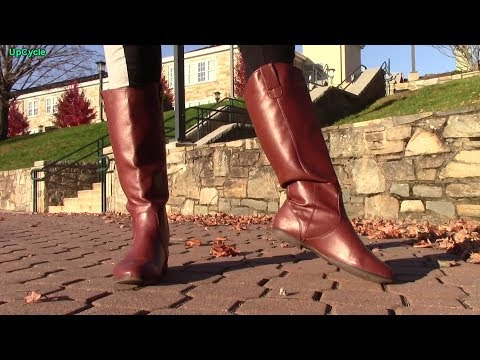 Jamie reviews her Forever 21/Report brown faux leather boots