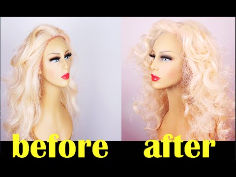 CHEAP AND EASY WAY TO RESTORE YOUR OLD SYNTHETIC WIG