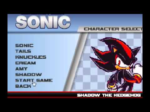 truco para desbloquear a shadow y a amy en sonic ultimate flash